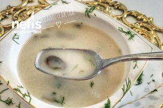 Kremalı Tadında Sütlü Mantar Çorbası Tarifi