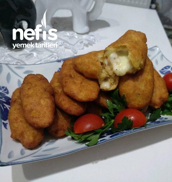 Patates Kroket, Peynir Dolgulu