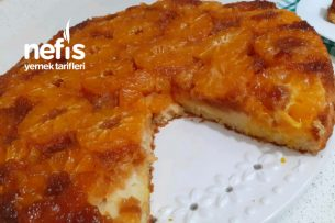 Karamelize Borcamda Mandalinalı Kek (Videolu) Tarifi