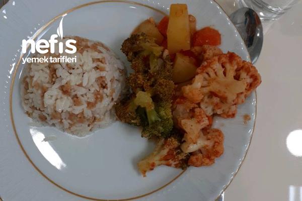 Karnabahar Brokolili Sebze Yemeği Tarifi