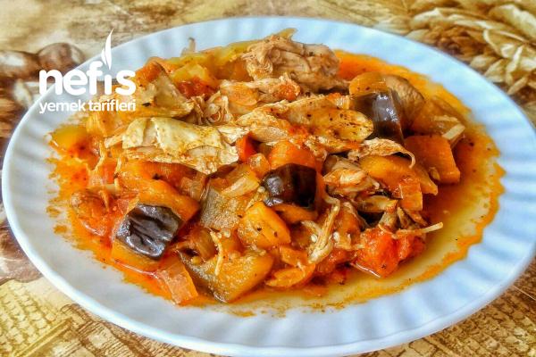 Patlıcanlı Hindi Eti Yemeği Tarifi