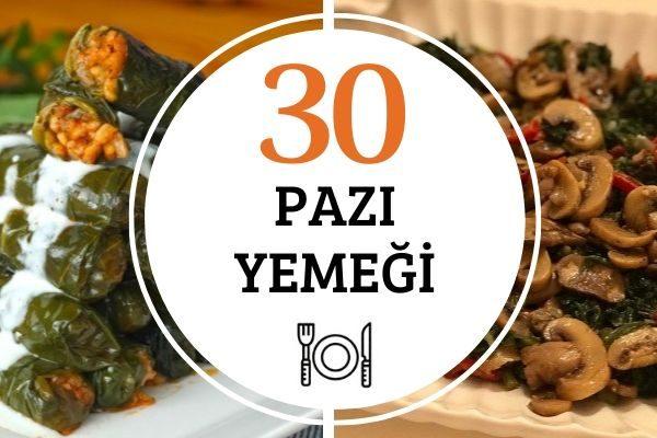 Pazı Yemekleri: Resimli 30 Değişik Tarif Tarifi