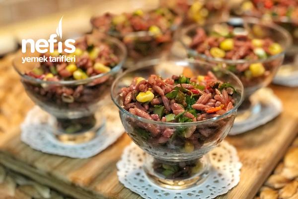 Renkli Şehriye Salatası (Şalgamlı) Tarifi