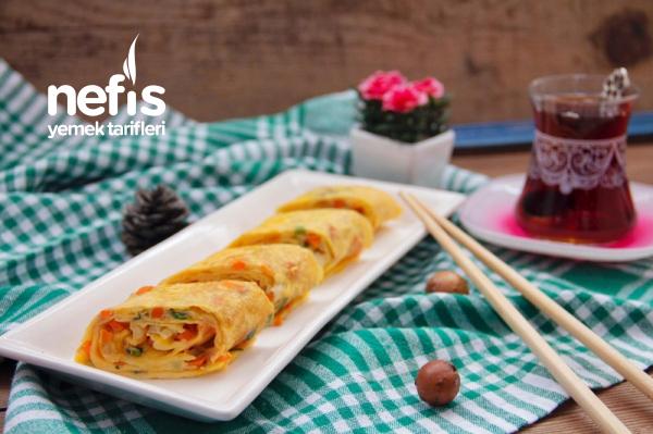 Yumurta Rulosu (Egg Roll) Kore Mutfağından