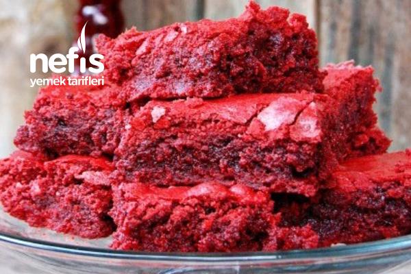 Kadife Kırmızı Browni Kek Tarifi