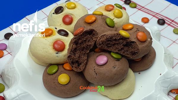 Bonibonlu Çikolatalı Kurabiye (Videolu)
