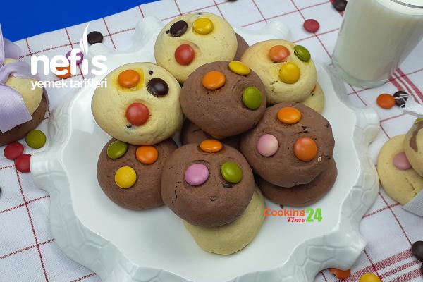 Bonibonlu Çikolatalı Kurabiye (Videolu) Tarifi