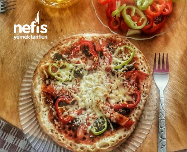 Sabah Kahvaltılarının Vazgeçilmez Bazlamadan Pizzası ♡