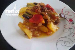 Fırında Patates Patlıcan Kızartma (Videolu) Tarifi