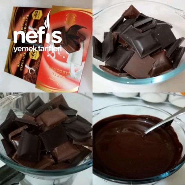 Kremalı Muzlu Çikolata Saksı Ları