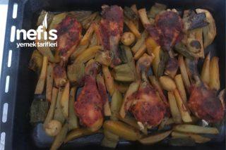 Fırında Tavuk Patates (But) Tarifi