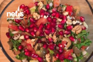 Kahvaltıda Zeytin Salatası Tarifi