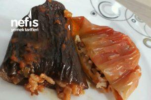 Kuru Patlıcan Biber Dolması Tarifi