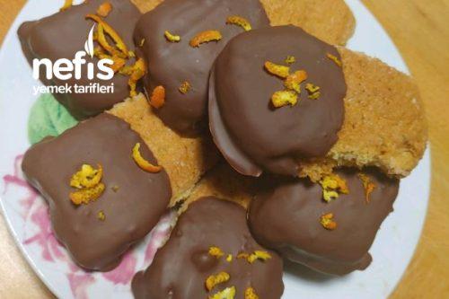Portakallı Çikolatalı Dilim Kurabiyem Tarifi