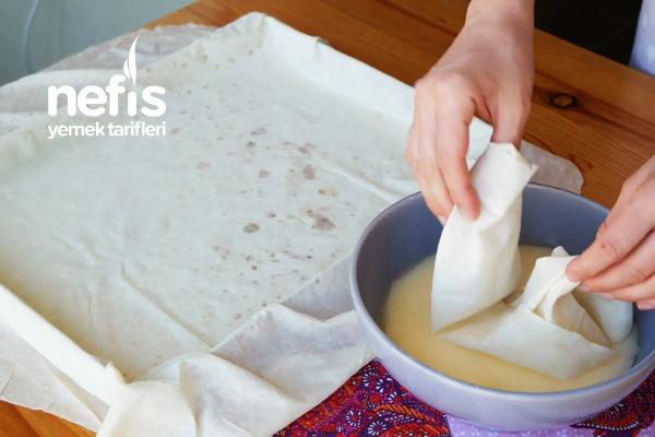 Su Böreği Tadında Sodalı Tepsi Böreği ( Çok lezzetli ) (videolu)