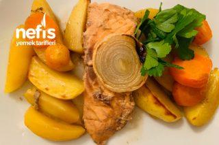 Fırında Patatesli Somon Balığı Tarifi