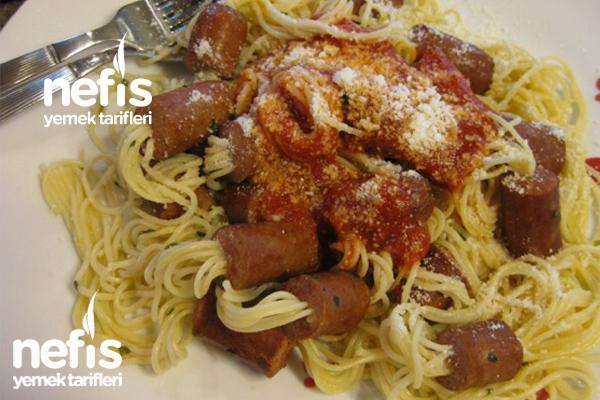 Sosisli Spagetti Tarifi