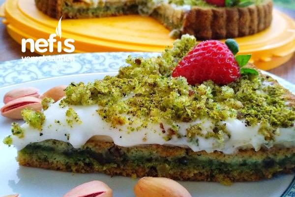 Ispanaklı Cevizli Kremalı Tart Pasta Tarifi