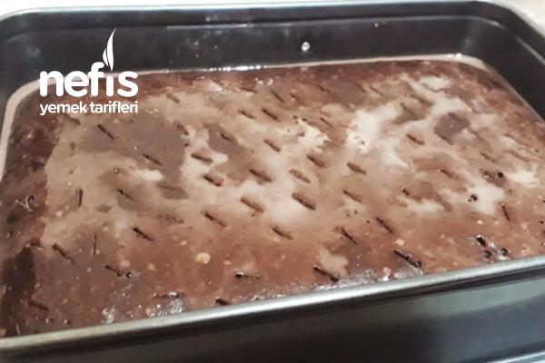 Kahveli Ganajlı Enfes Islak Pasta