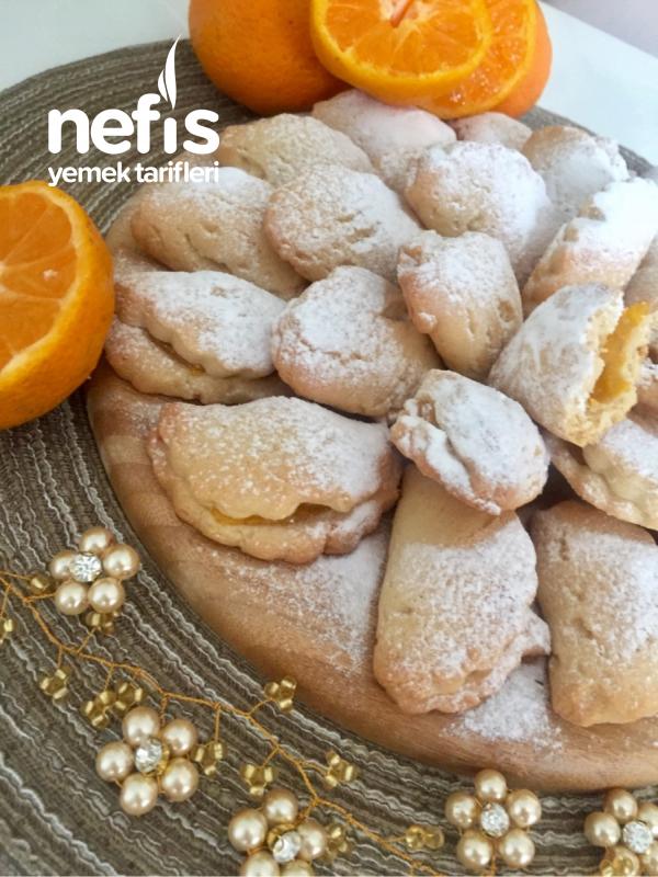 Enfes tadı ile mandalina pelteli kurabiye