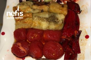 Fırında Patlıcan Biber Domates Pişirmesi Tarifi