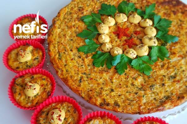 Karnabahar Muffin (Havuç ve Peynirli) Tarifi