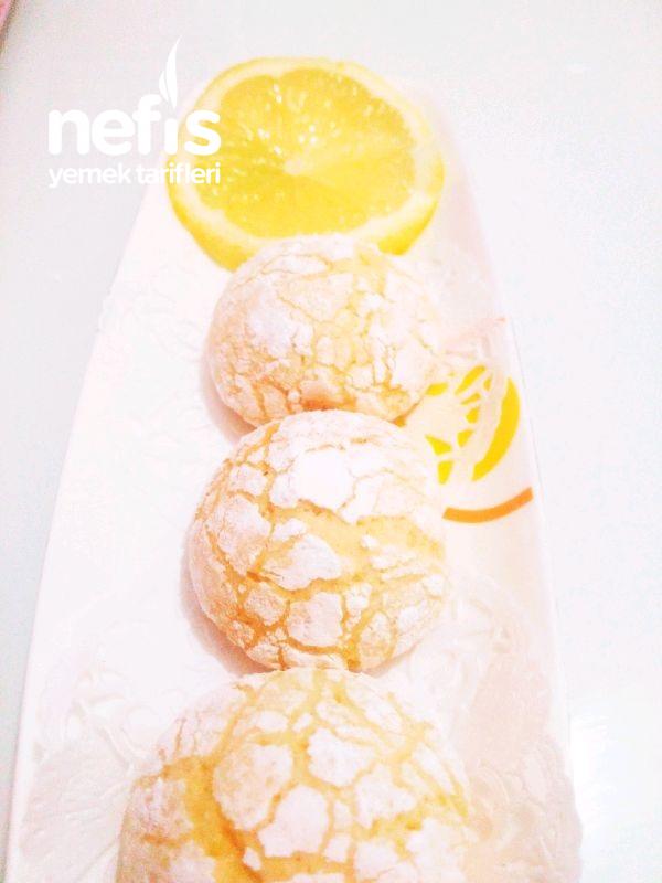 Limonlu Çatlak Kurabiye