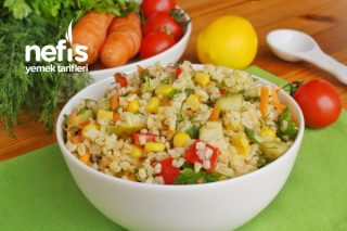 Zahmetsiz ve Bereketli Bulgur Salatası (videolu) Tarifi
