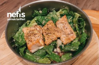 Yunan Usulü Diyet Somon Salata / Mediterranean Diet Salmon Salad Tarifi