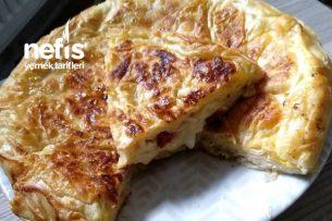 Üç Yufkayla Su Böreği Tadında Tava Börek (Az Malzeme Bol Lezzet) Tarifi
