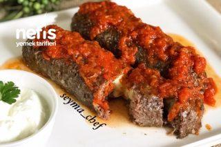 Köz Patlıcanlı Köfte Sarma Tarifi