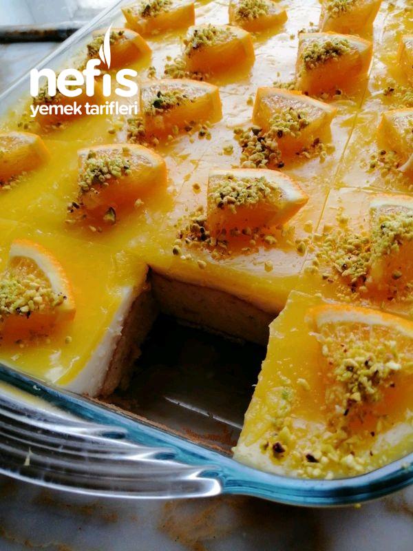 Portakallı Borcam Pastası ( Tam 24 Dilim)