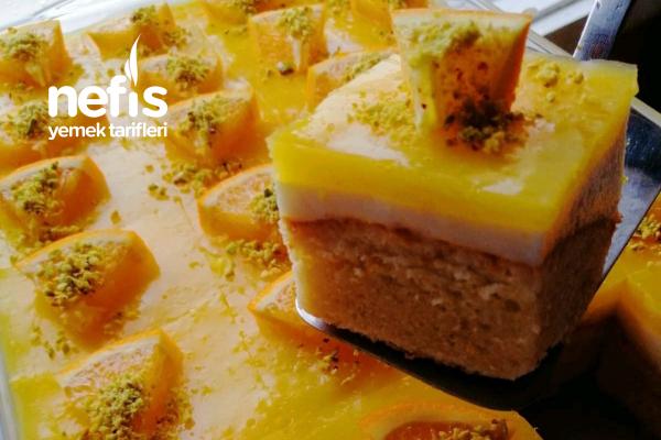 Portakallı Borcam Pastası (Tam 24 Dilim)