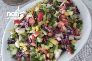 Renkli Kaşık Salata Tarifi