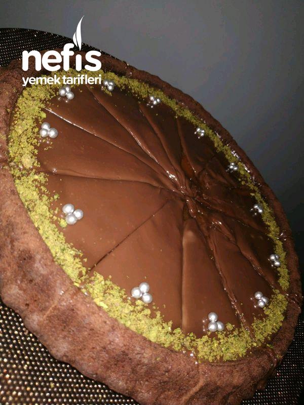 Karamelli Çikolatalı Tart Kek (videolu)