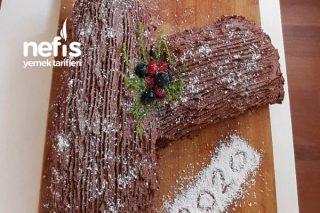 Kütük Pasta (Hazır Pasta Kremasından) Tarifi