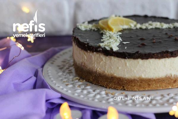 Limon Aromalı Çikolatalı Cheesecake (Tam Tutan Tarif)