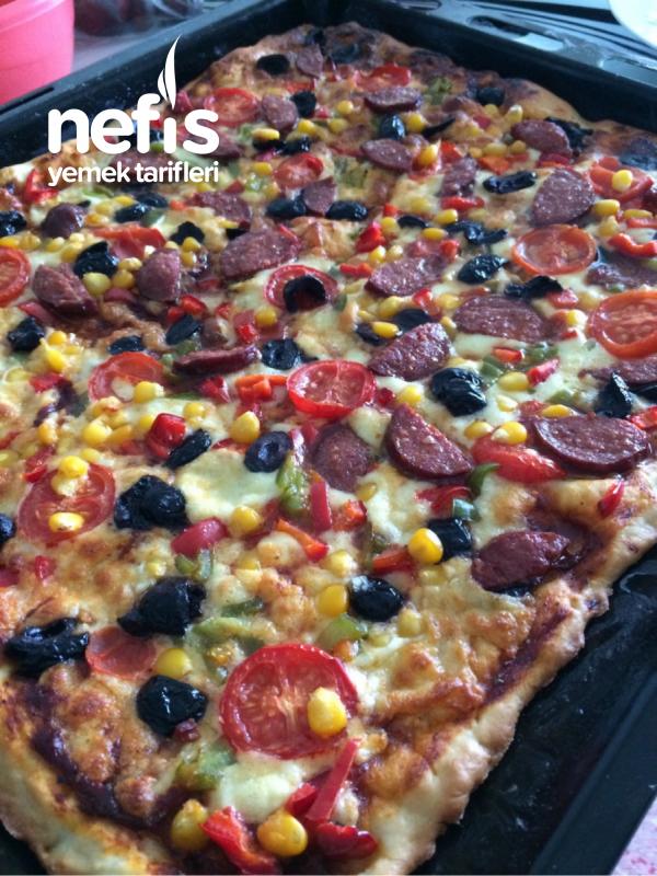 Büyük Boy Tepsi Pizza(aile Boyu)