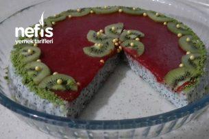 Kırmızı Meyveli Haşhaşlı Sütlü Tatlı (Videolu) Tarifi