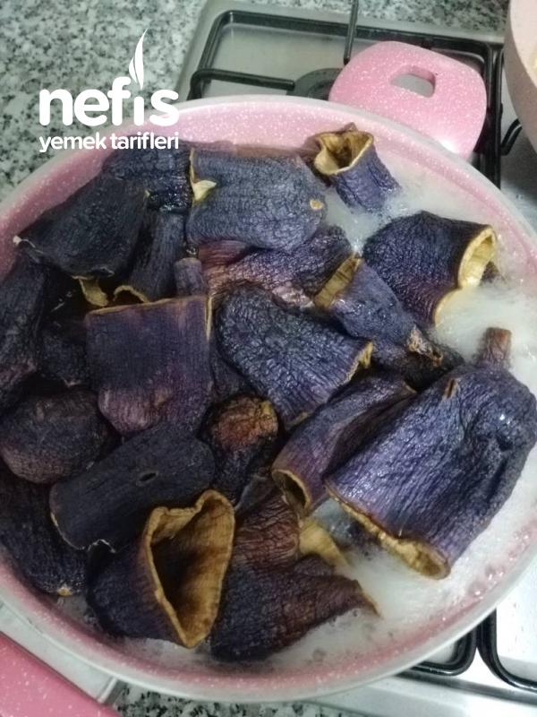 Tavuklu Kuru Patlıcan Dolması