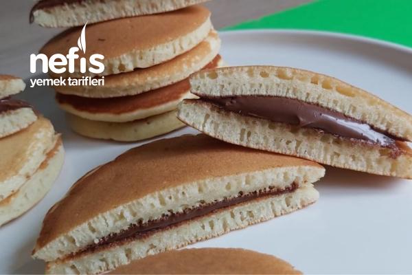 Kahvaltılık Çikolatalı Pankek /Bitmiş Ketçap Kutusuyla Pankek Yaptım ( Videolu ) Tarifi