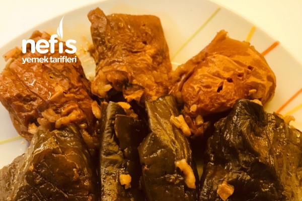 Nefis Kuru Patlıcan Biber Dolması Tarifi