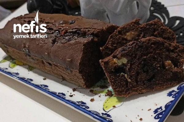 Muzlu Kakaolu Çaylı Baton Kek Damla Çikolatalı (Brovni Tadında) Tarifi