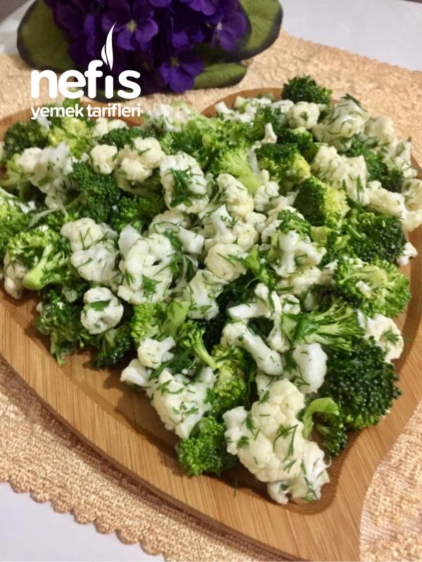 Kaşık Kaşık Yedirten Karnabahar Brokoli Salatası(çiğden)