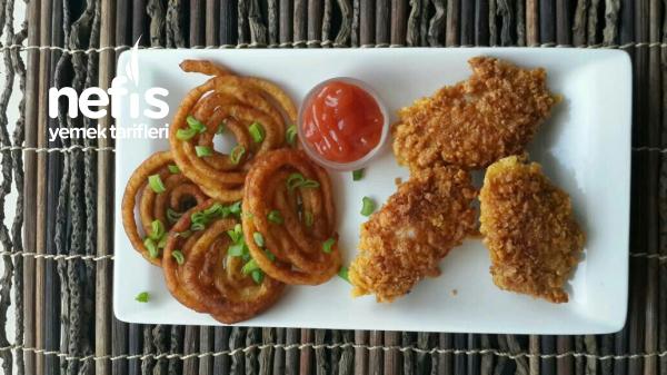Spiral Patates Eşliğinde Çıtır Tavuk