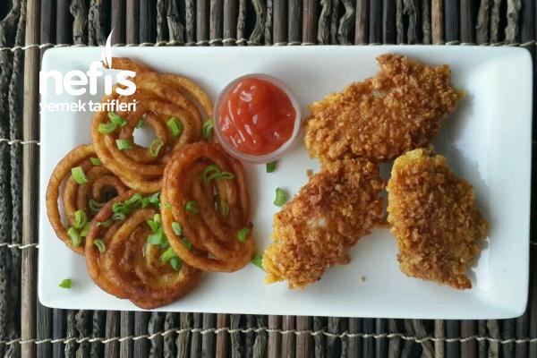 Spiral Patates Eşliğinde Çıtır Tavuk Tarifi