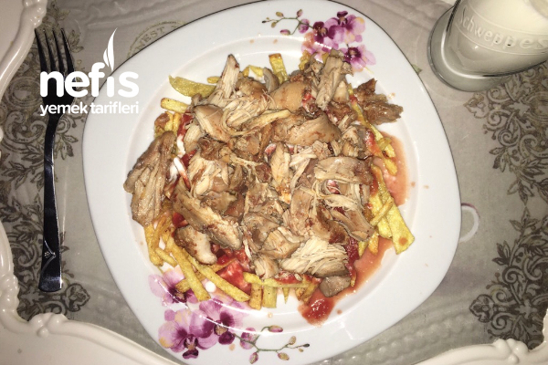 Düdüklüde Tavuk Tandırlı Çökertme Kebabı