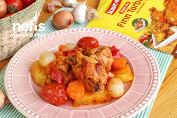 Fırın Poşetinde Patatesli Tavuk (videolu) Tarifi