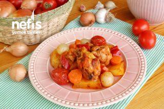 Fırın Poşetinde Patatesli Tavuk Tarifi (videolu)