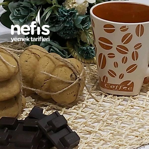 Kahveli Çikolatalı Cookie Kahve Severlere